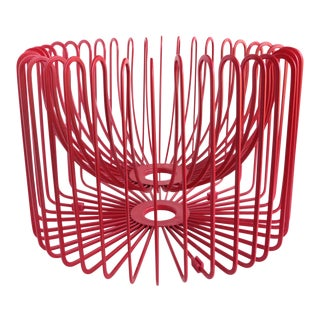 Ehlen Johannson Red Wire Fruit Basket For Sale
