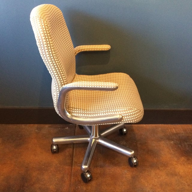 Mid-Century Aluminum Swivel Office Chair - Image 6 of 9