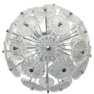 Etched Glass Sputnik Chandelier For Sale