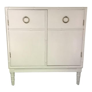 White Faux Bamboo Dresser/Server by Dixie For Sale