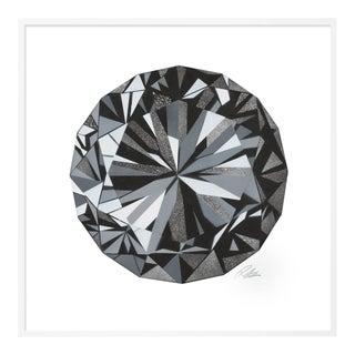 Diamond by Rankin Willard in White Framed Paper, Medium Art Print For Sale