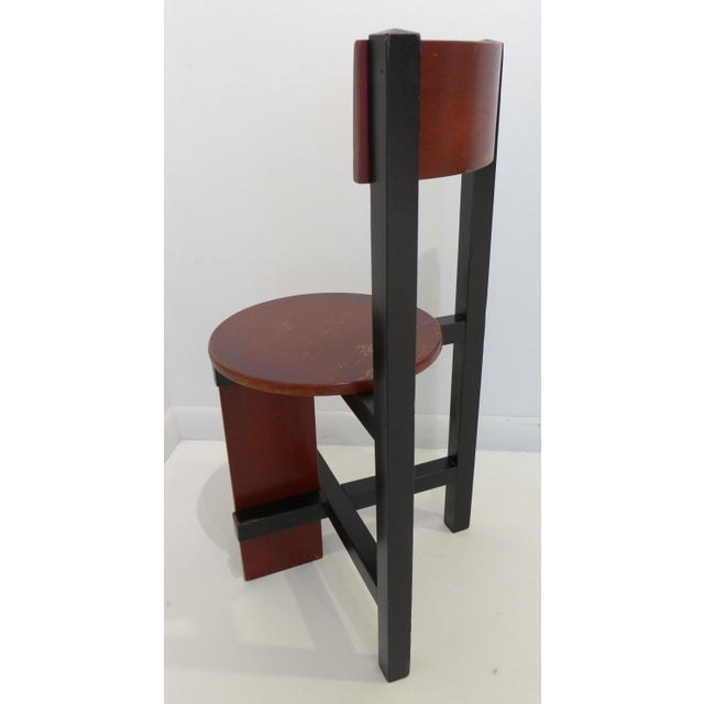 """Wood Constructivist """"Bastille"""" Chair by Piet Blom For Sale - Image 7 of 9"""