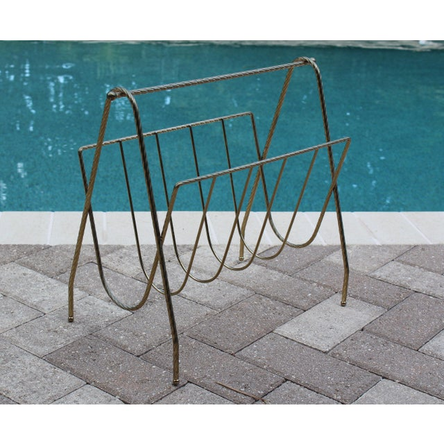 Mid-Century Magazine Rack For Sale - Image 5 of 5
