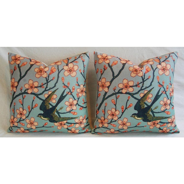 Magnolia Blossoms/Swallow Down & Feather Pillows - a Pair For Sale In Los Angeles - Image 6 of 12