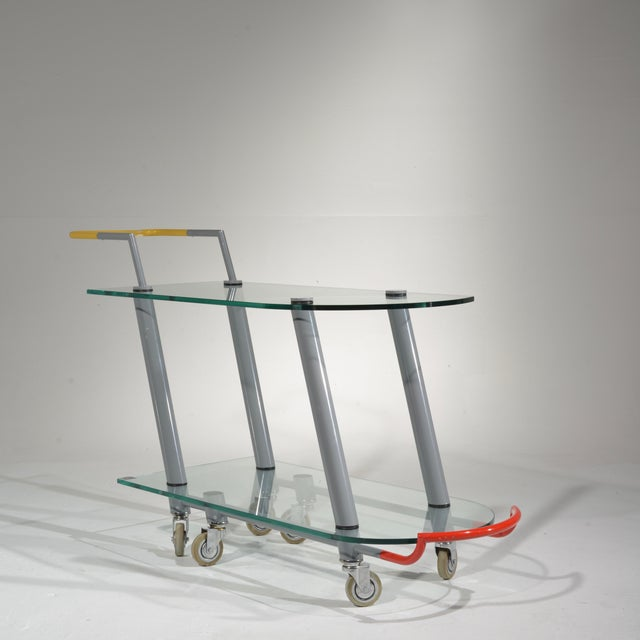 Hilton Trolly Bar Cart by Javier Mariscal for Memphis, 1981 For Sale - Image 12 of 13