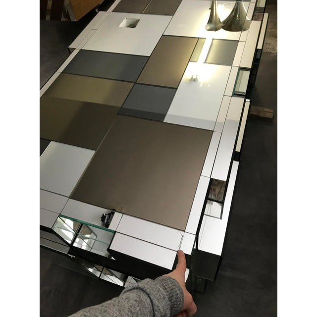 Paul Evans Style Mirrored Dining Table Base For Sale - Image 5 of 6