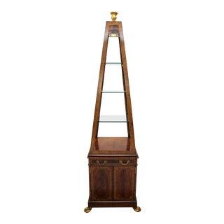 Mid 20th Century Maitland-Smith Obelisk Vitrine For Sale