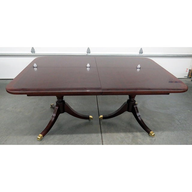 Kindel Georgian Style Mahogany Dining Room Table For Sale - Image 13 of 13