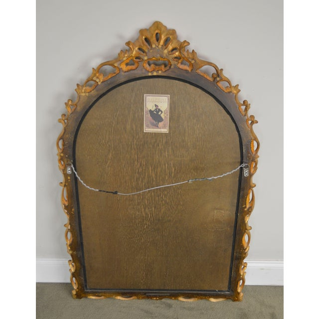 Early 21st Century Dauphine Harrison & Gil Gold Gilt Wood Rococo Carved Wall Mirror For Sale - Image 5 of 13