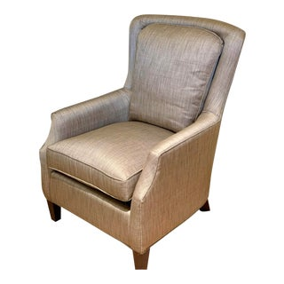 Bassett Furniture Company Fully Upholstered Silk Linen Club Chair - T. Boone Pickens For Sale