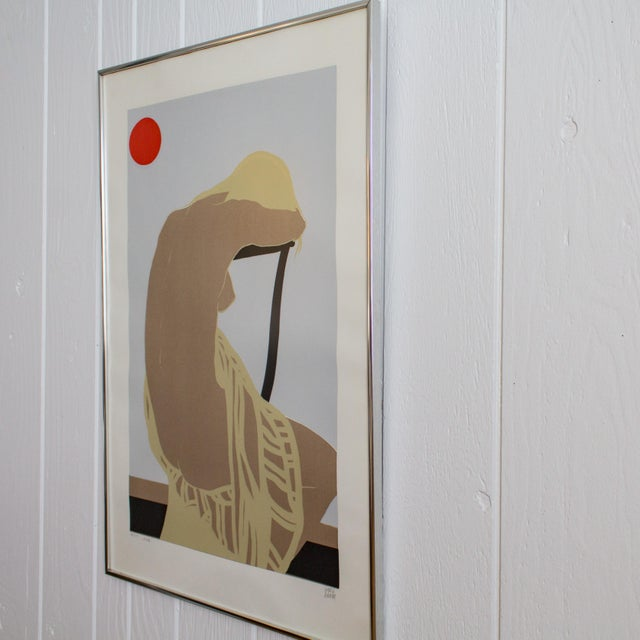 1960s Nude Color Block Linocut Print by Georg Rauch Titled Nicole 1960s - 1970s For Sale - Image 5 of 12