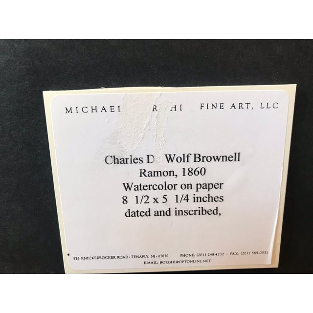 White Traditional Charles De Wolf Brownell Watercolors - a Pair For Sale - Image 8 of 9