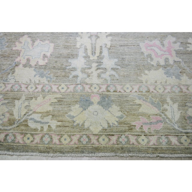 """Shabby Chic Turkish Hand Woven Angora Oushak Rug With Allover Design and Silky Soft Texture,9'10""""x13'6"""" For Sale - Image 3 of 5"""