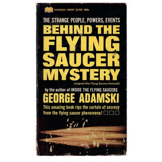 """Behind the Flying Saucer Mystery"" First Printing For Sale"