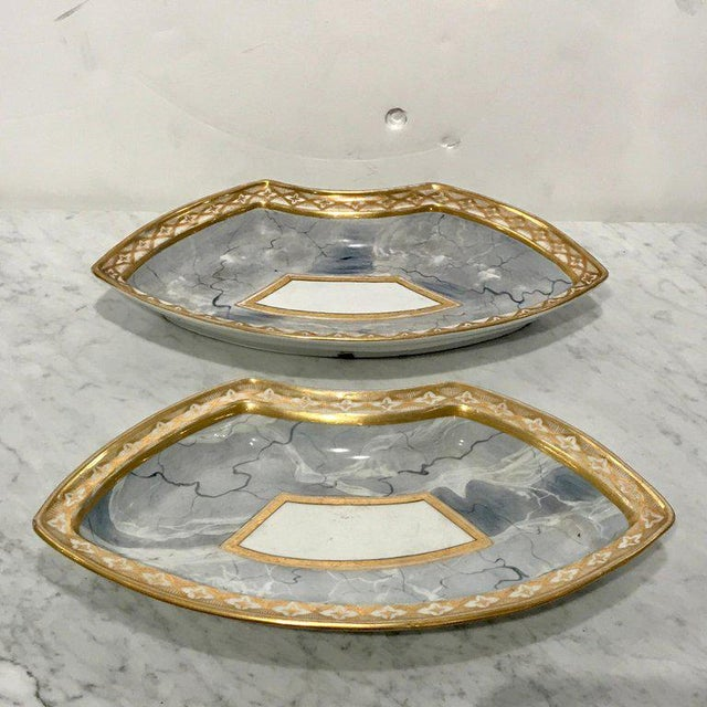 Antique Derby Marbleized Supper Set on Georgian Mahogany Tray For Sale - Image 10 of 13