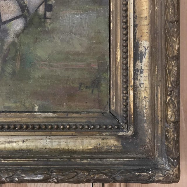 19th Century Framed Oil Painting on Canvas For Sale - Image 10 of 13