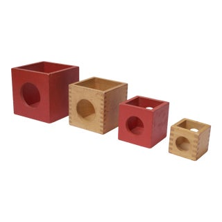 Set of Four Vintage Nesting Cubes by Creative Playthings of Finland For Sale