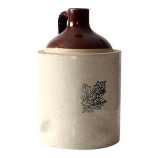 Antique Western Stoneware Crock Jug For Sale