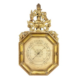 Charles X-Giltwood Barometer For Sale