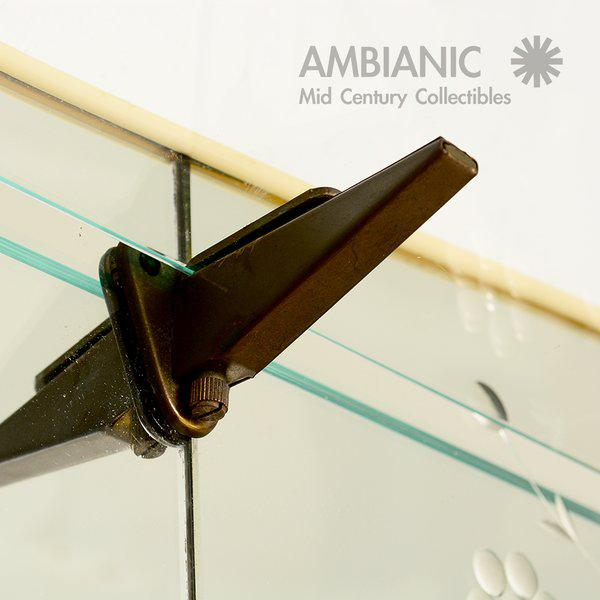 Italian Full Length Mirror with Shelf & Hooks After Fontana Arte For Sale - Image 11 of 11