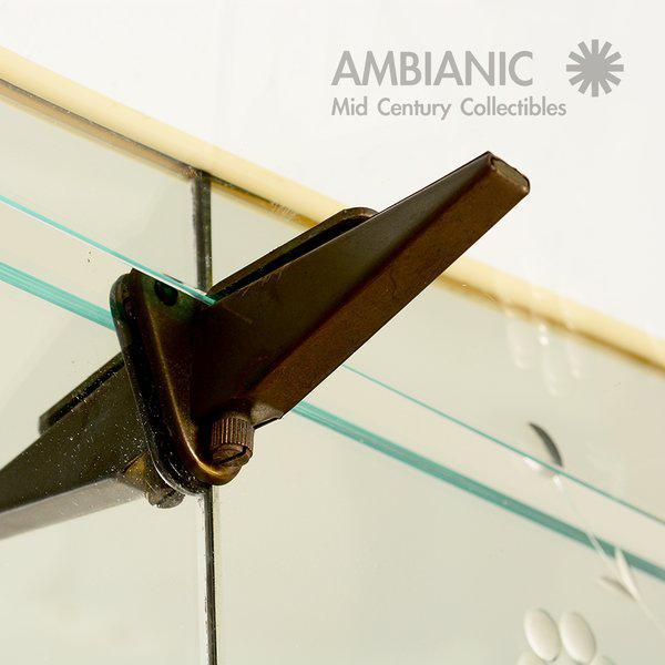Vintage Italian Full Length Mirror with Shelf & Hooks After Fontana Arte - Image 11 of 11
