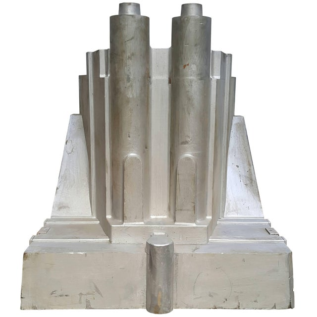 Silver 1930's Vintage Architectural Silvered Foundry Garden Model For Sale - Image 8 of 8