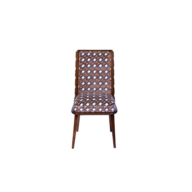 Set of Six Mid-Century Modernist Dining Chairs For Sale - Image 4 of 11