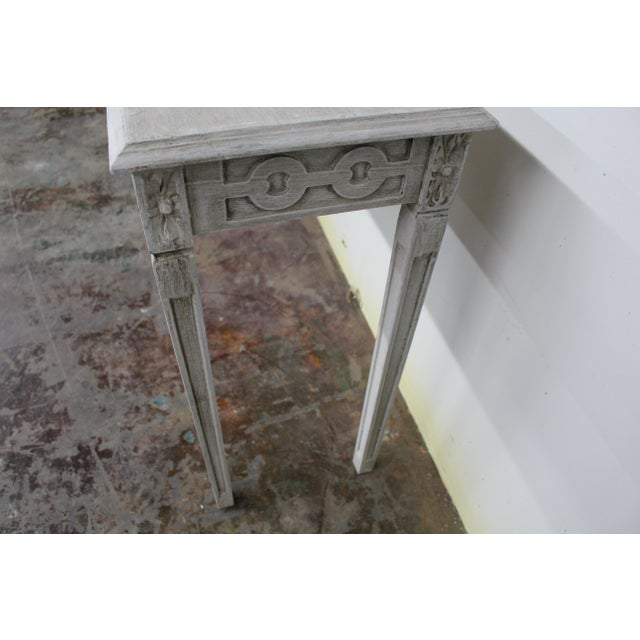 Late 20th Century 20th Century Vintage Swedish Gustavian Style Console Table For Sale - Image 5 of 9