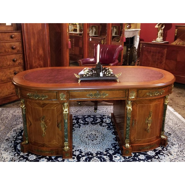 Red Egyptian Classical Revival Desk For Sale - Image 8 of 12