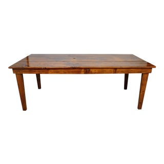 Vintage French Country Pine Dining Table For Sale