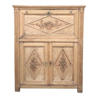 19th Century Country French Rustic Stripped Secretary For Sale