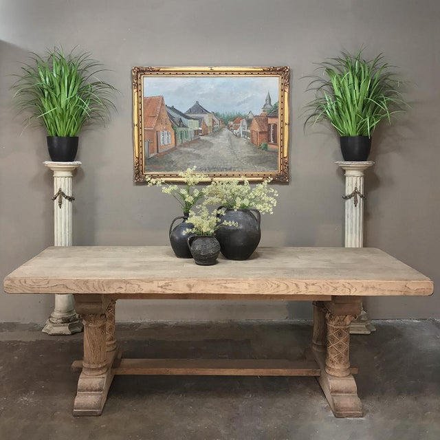 French Pair 19th Century French Louis XVI Painted Pedestals For Sale - Image 3 of 13