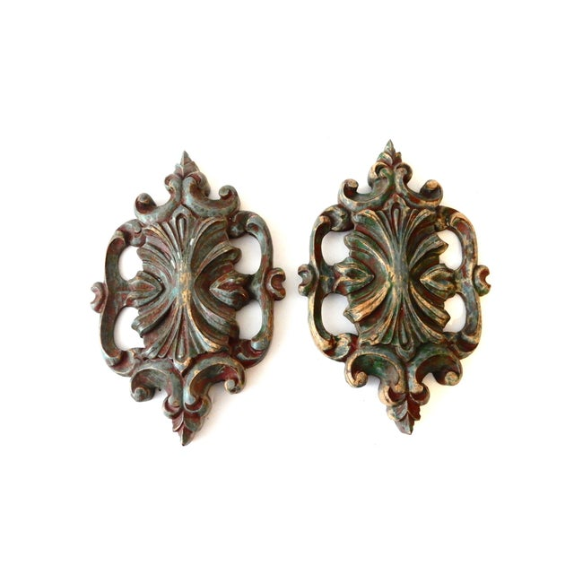 Italian Baroque-Style Wall Hangings - A Pair - Image 1 of 4