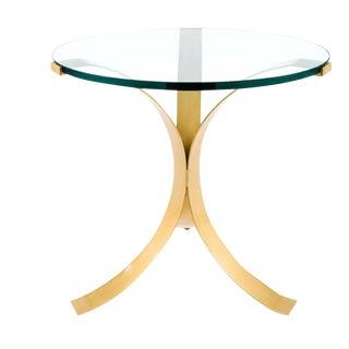 Golden Pedestal Side Table