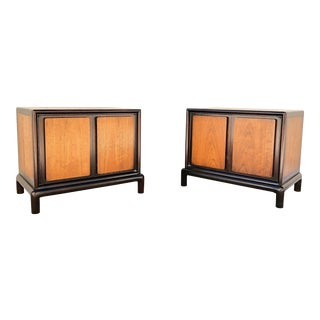 1960's Mid-Century Walnut Mount Airy Nightstands - a Pair