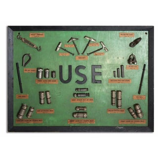 """Use"" Framed Hardware Sign For Sale"