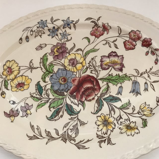 """Lovely Vernon Kilns """"Mayflower"""" 14 inch Platter. Beautiful colors in perfect condition. One of the most popular patterns"""