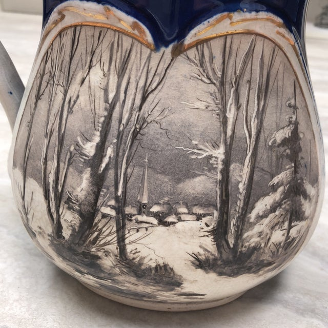 1900's Vintage English Ironstone Double Sided Pitcher For Sale In Richmond - Image 6 of 7