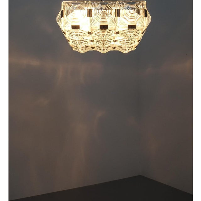 1 of 7 Kamenicky Senov Bohemian Glass Flush Mount Ceiling Lamp, Czechia For Sale - Image 11 of 13