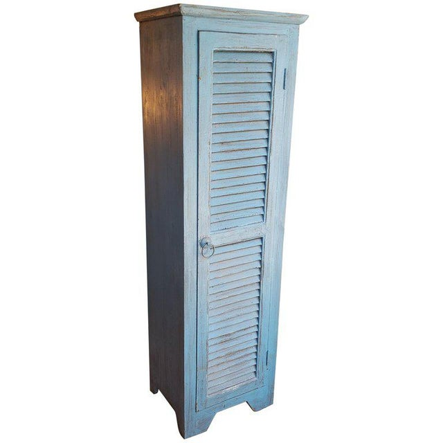 Wood Moroccan Carved Storage Cabinet For Sale - Image 7 of 7
