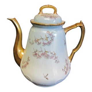 Early 20th Century China Coffee Pot Made in France by LS & Sons For Sale