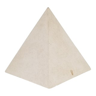Vintage Postmodern Pyramid Ceramic Vase . For Sale