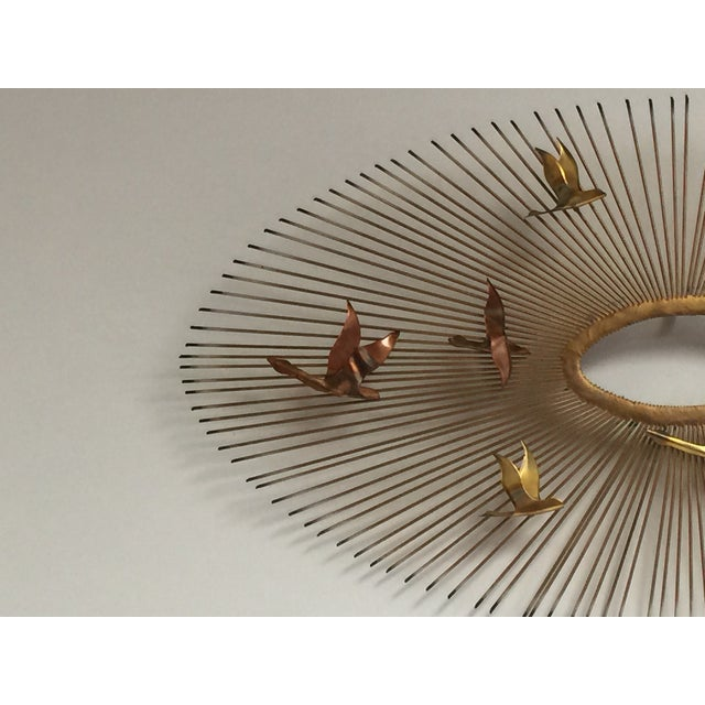 Curtis Jere Style Wall Hanging Sunburst Sculpture - Image 3 of 5