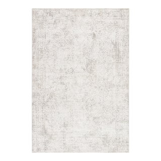 """Jaipur Living Lianna Abstract Silver White Area Rug 5'X7'6"""" For Sale"""