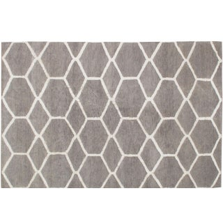 Stark Studio Rugs Contemporary Moroccan 50% Wool/50% Linen Rug - 7′10″ × 9′11″ For Sale