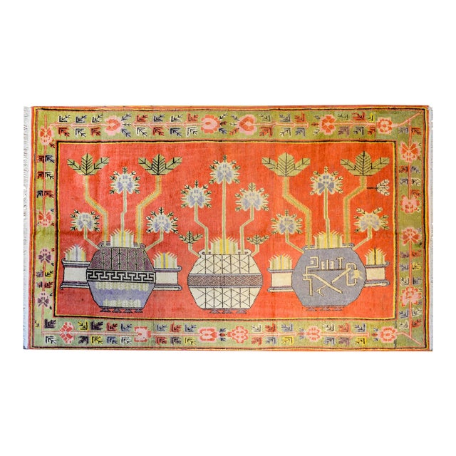 Wonderful Early 20th Century Samarkand Rug For Sale
