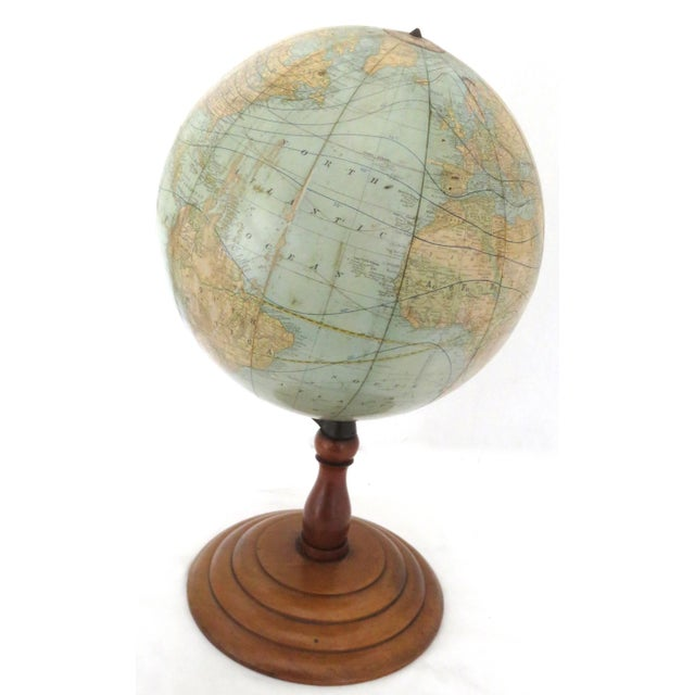Rand McNally & Co. Antique Rand McNally Twelve Inch Terrestrial Globe - Atlas For Sale - Image 4 of 13