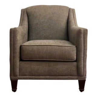 "Modern Rowe ""Laine"" Charcoal Twill Chair For Sale"