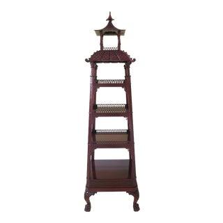 Kindel Mahogany Pagoda Vitrine For Sale