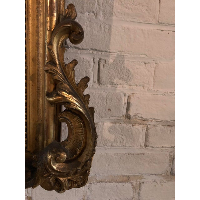 19th Century Mirror in the Style of Louis XV For Sale - Image 4 of 8